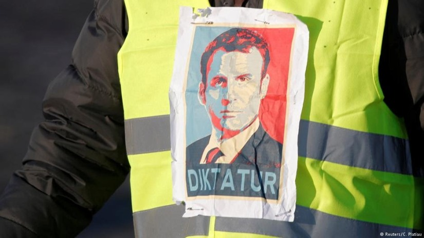 A French protester