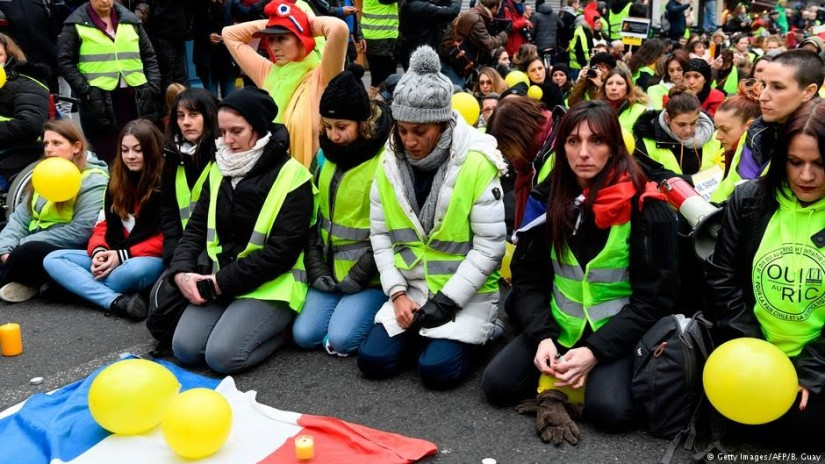 Yellow vest protesters
