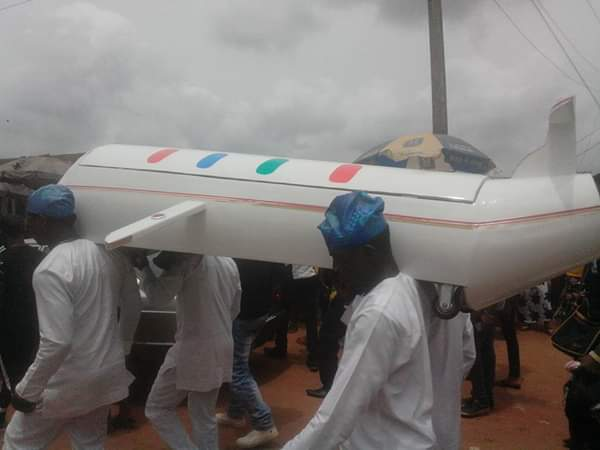 Undertakers with the chopper shaped coffin