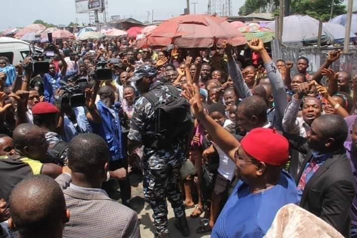 Gov Wike Amidst the Crowd