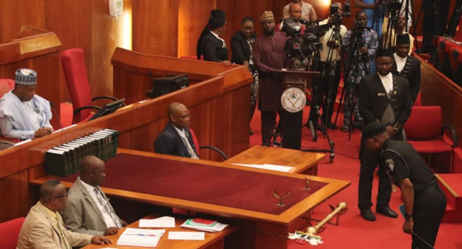 IGP, Mohammed Adamu appears at the Senate.