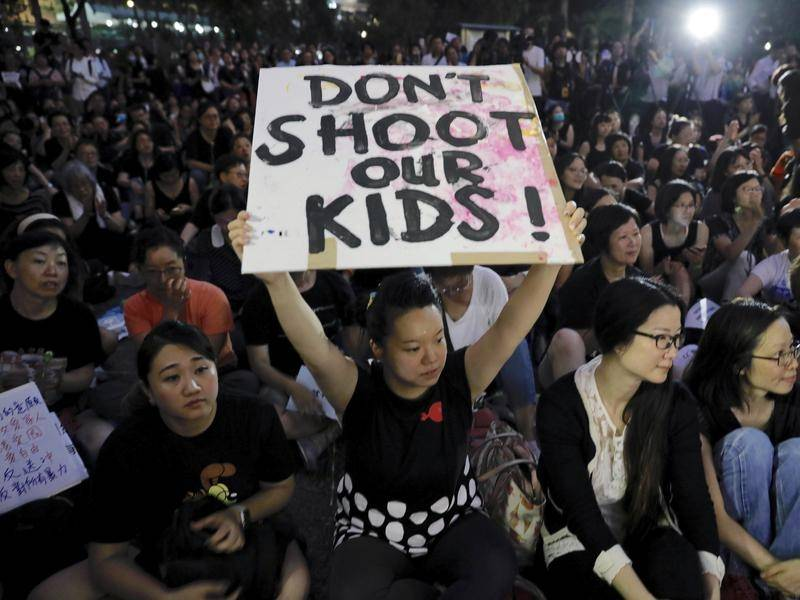 Hong Kong mothers in Protest
