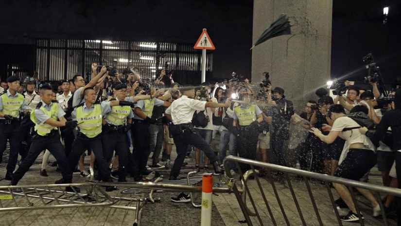 Hong Kong Police clash with Protesters